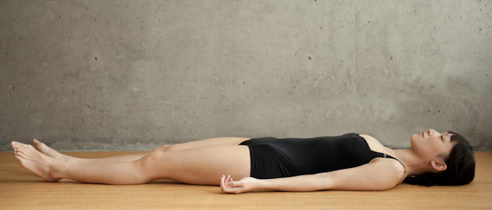 Beautiful Woman Doing Savasana