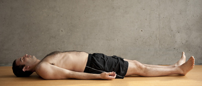 Man Doing Savasana