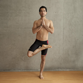 Man Doing Tree Pose