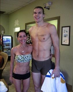 Louis Amundson yoga shirtless