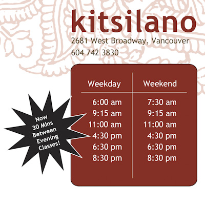 Kitsilano Hot Yoga Studio Yoga Classes